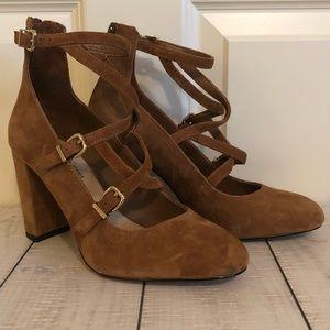 Light Brown Criss Cross Heels